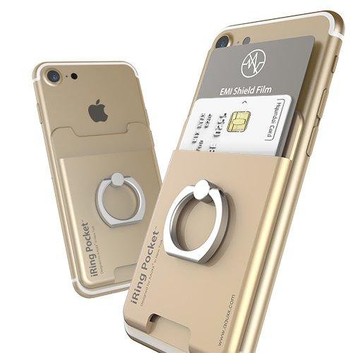 оригинальный держатель карман для телефона iRing Pocket золотой для хранения карт и визиток. Подробнее на www.iring2me.ru